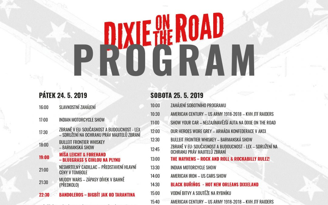 Program Dixie On The Road 2019 je zde!